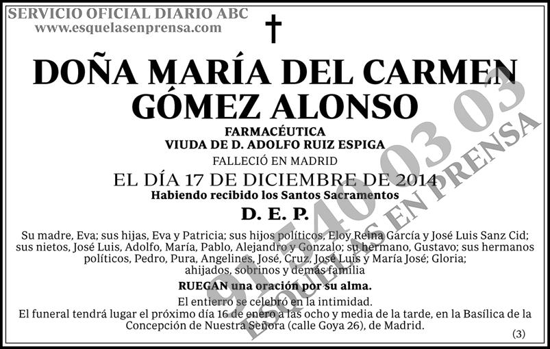 María del Carmen Gómez Alonso